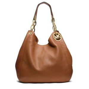 Michael Kors Fulton Leather Large Handbag, euc